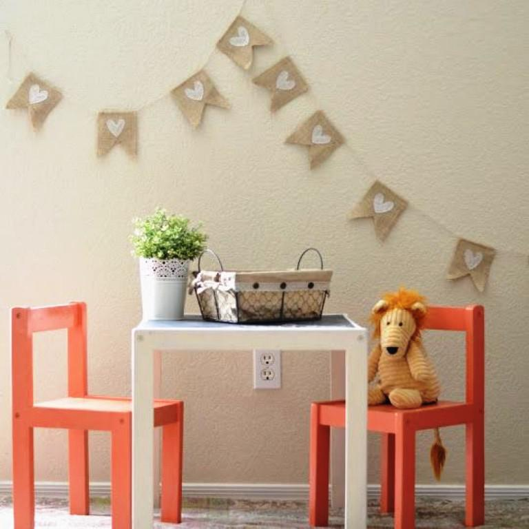 Image of: IKEA Childrens Table And 2 Chairs
