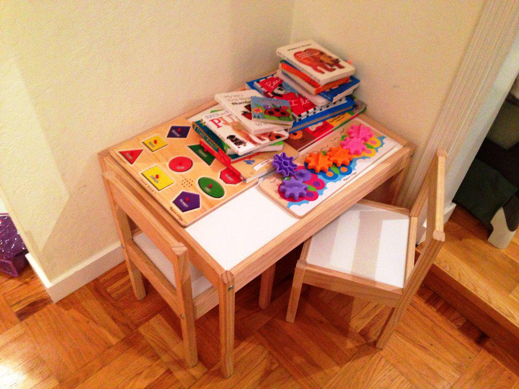 Image of: IKEA Childrens Table And Chair