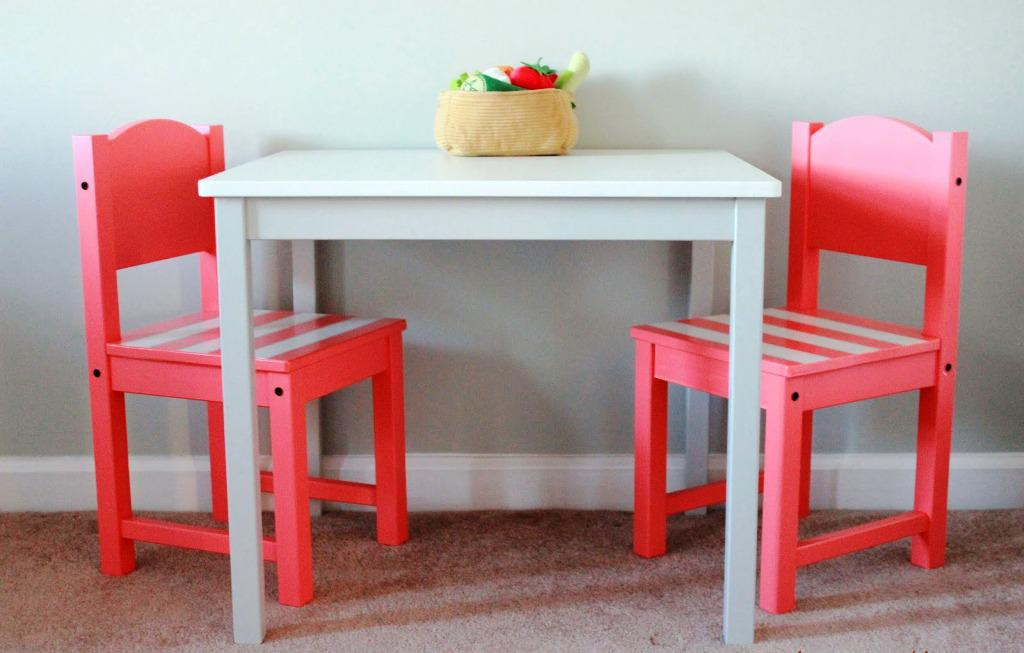 Image of: IKEA Childrens Wooden Table And Chairs