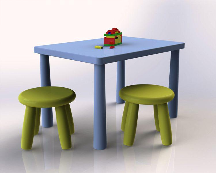 Image of: IKEA Mammut Table And Chairs Review