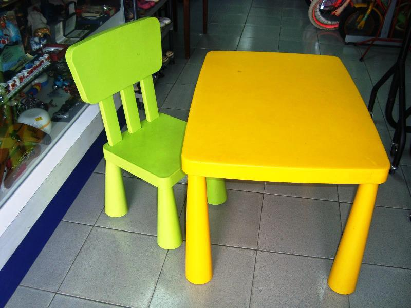 Image of: IKEA Mammut Table And Chairs