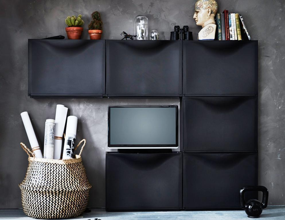 IKEA Trones Black Shoe Storage Ideas