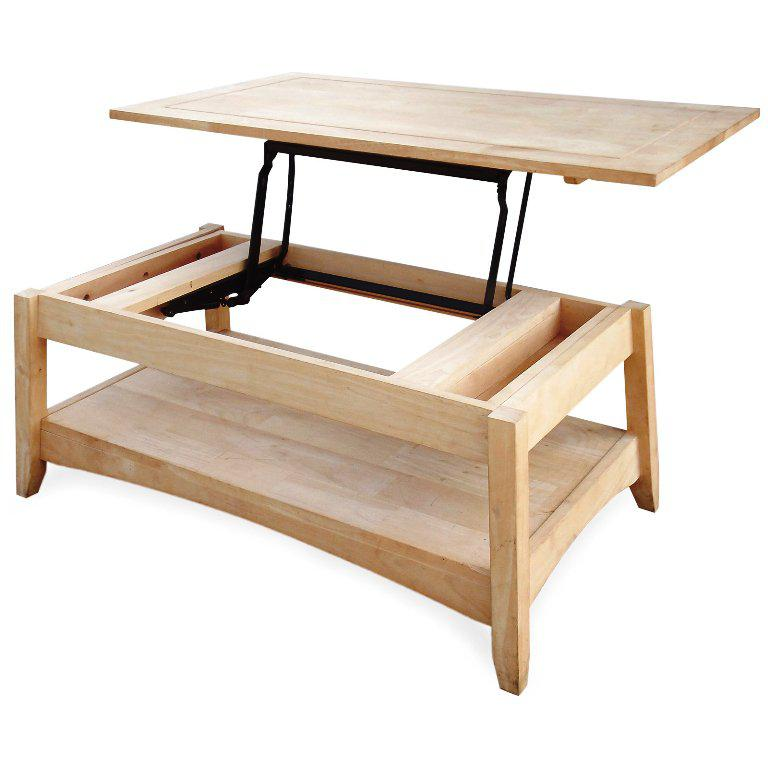 Unfinished Wood Lift Top Coffee Table IKEA