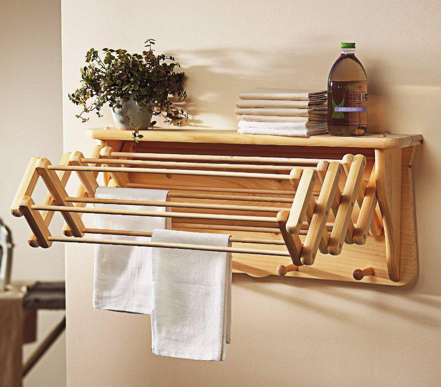 Wooden Clothes Drying Rack IKEA