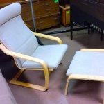 Contemporary Chair And Ottoman IKEA