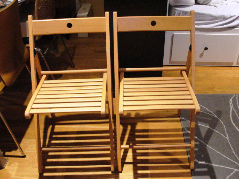 Counter Height IKEA Folding Chairs
