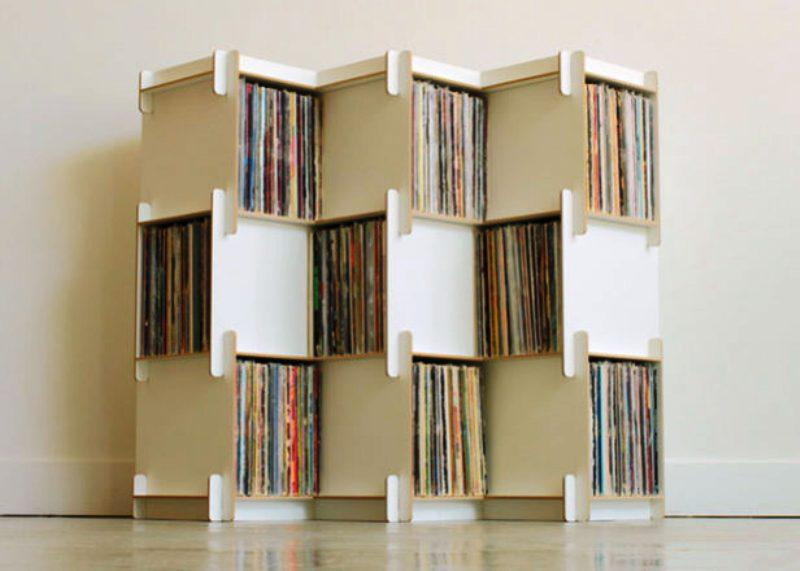 Custom IKEA Vinyl Record Storage Design