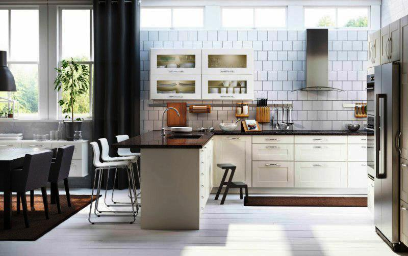 Functional White IKEA Kitchens Design Ideas