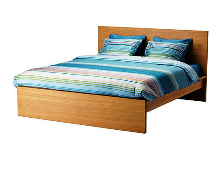 High IKEA MALM Bed Oak Veneer Luröy