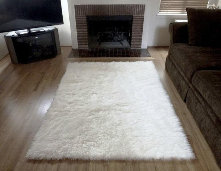 IKEA Area Rugs White Fluffy