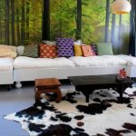 IKEA Cowhide Rug Living Room Area Rugs