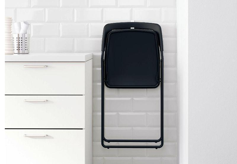 IKEA Folding Chairs Hang On The Wall