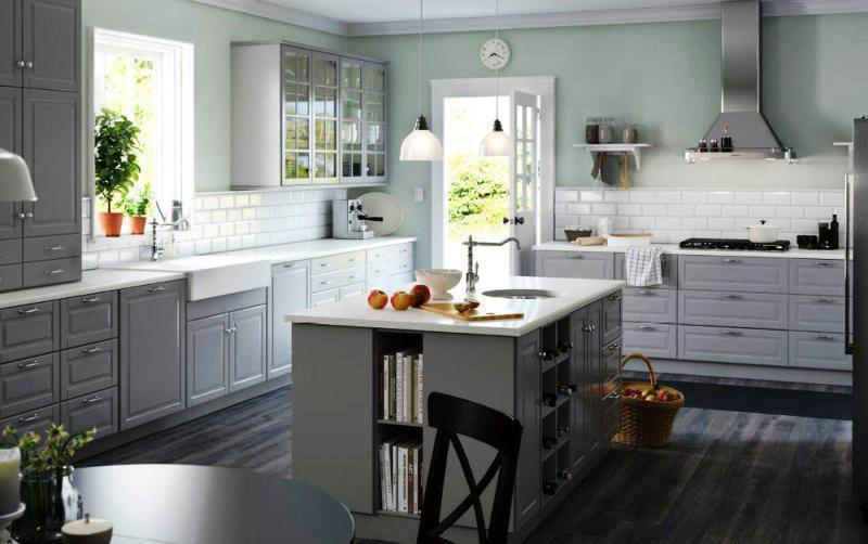 IKEA Kitchens Storage Cabinets With Glass Doors