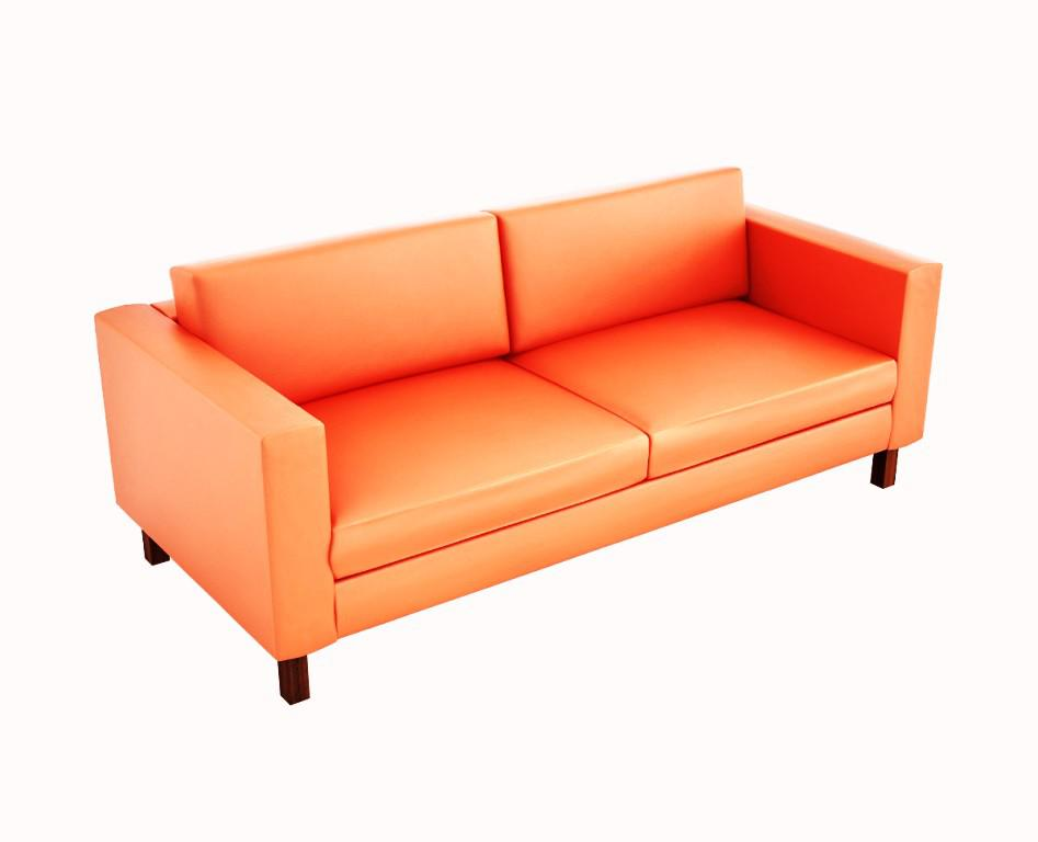 IKEA Leather Loveseat