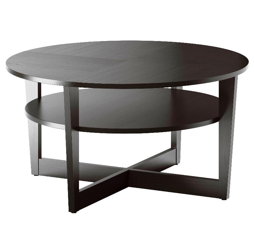 Image of: IKEA Round Coffee Table