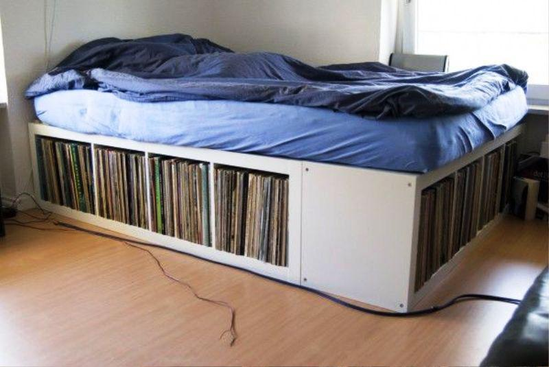 IKEA Vinyl Record Storage Hack Ideas
