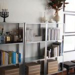 Metal Bookshelf IKEA Living Room Storage Decor
