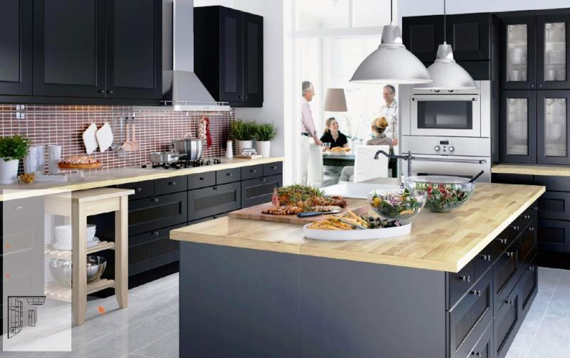 Modern IKEA Kitchens Furniture Design Ideas