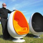 Vintage Egg Chair With Speakers