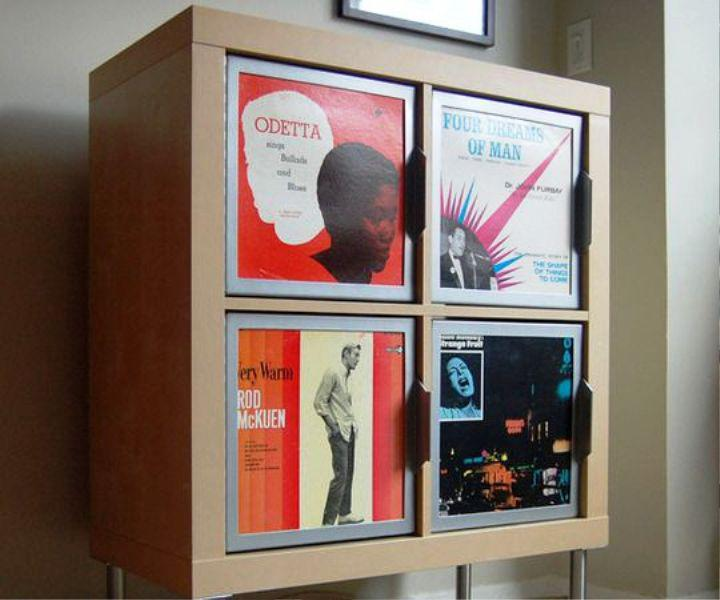 Wall Mounted IKEA Vinyl Record Storage