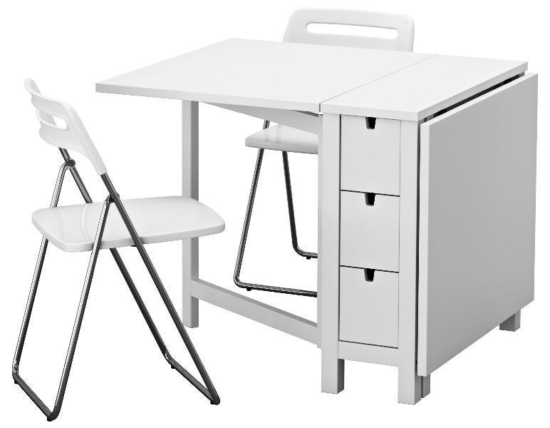 White IKEA Folding Chairs