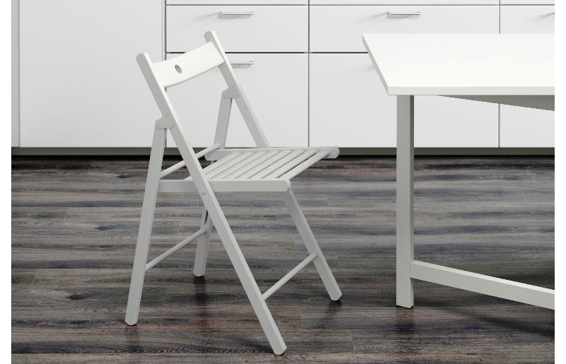 White Wooden IKEA Folding Chairs