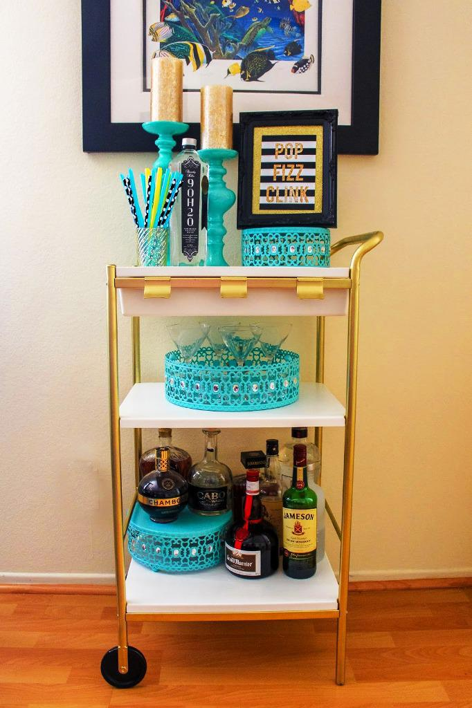Bar Cart On Wheels IKEA