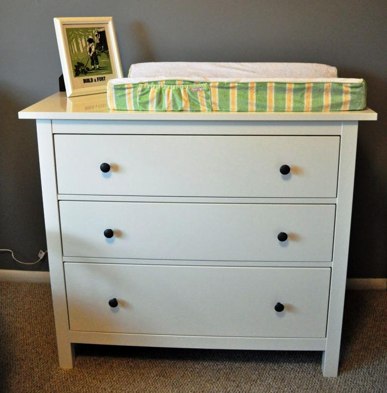 IKEA 3 Drawer Dresser White