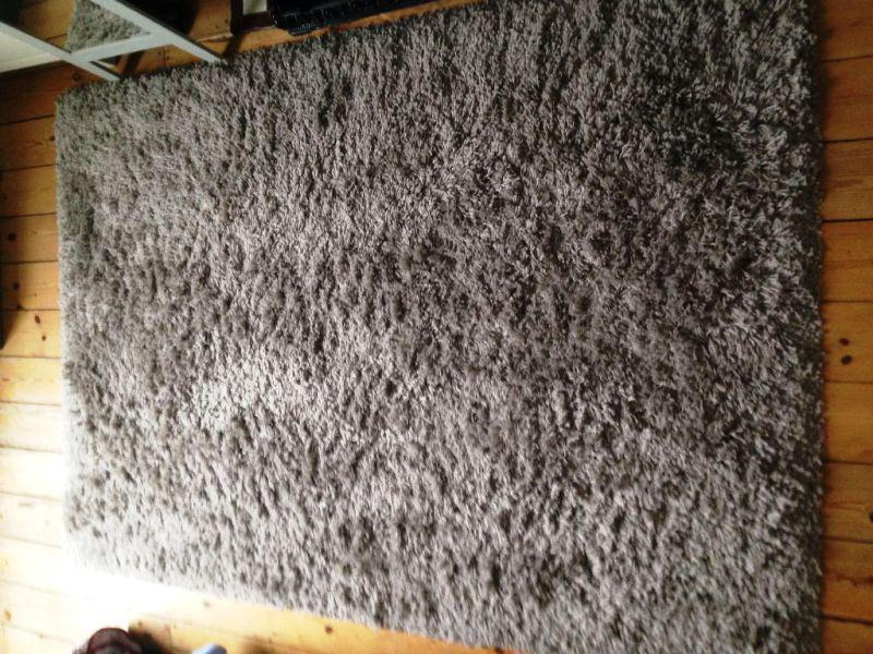 Image of: IKEA Gaser Rug Gray