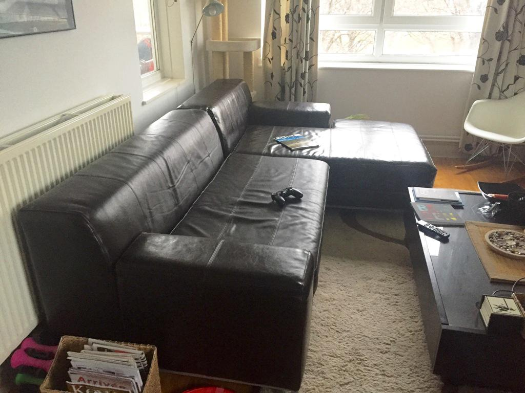 IKEA Kramfors Leather Sofa