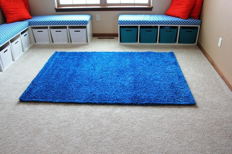 Image of: IKEA Vindum Rug Blue