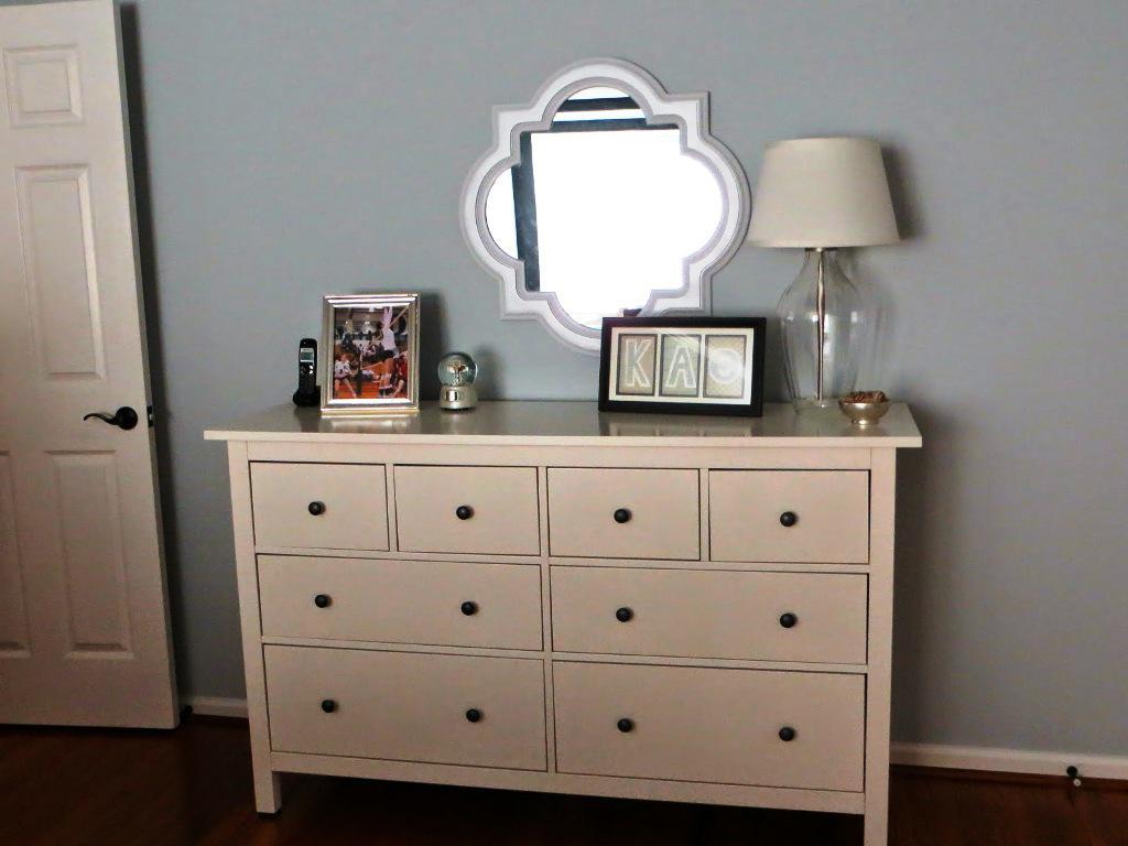 IKEA White Dresser With Mirror