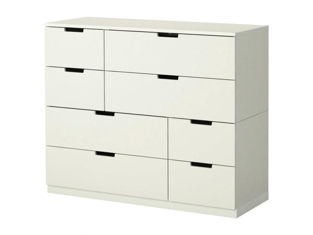 Modern Contemporary IKEA Hemnes 8 Drawer Dresser White