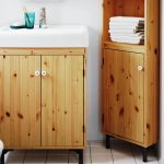 Solid Pine Wood IKEA Bathroom Cabinets Vanities SILVERÅN HAMNVIKEN