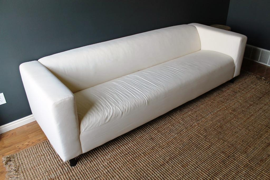 White Leather Sofa IKEA