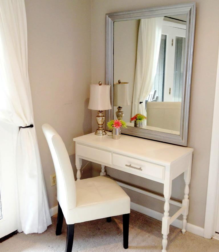 Image of: White Vanity Table IKEA