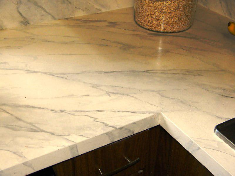 Ekbacken Countertop White Marble Effect