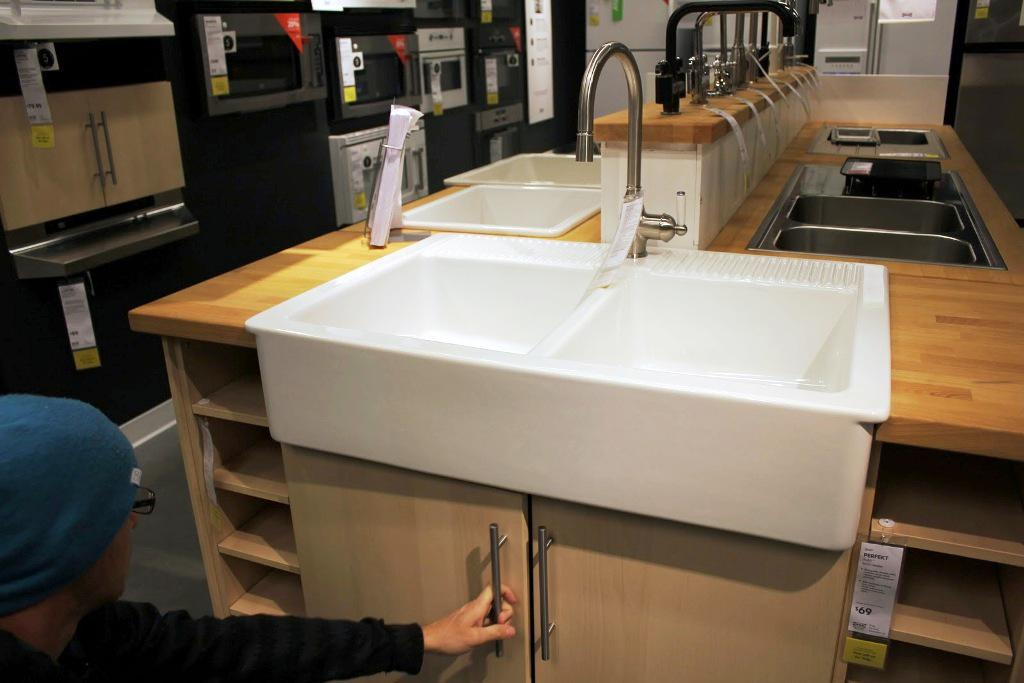 IKEA Double Farmhouse Sink